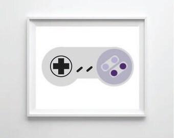 SNES controller print