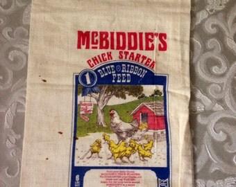 McBiddies Chick Starter Feed Sack