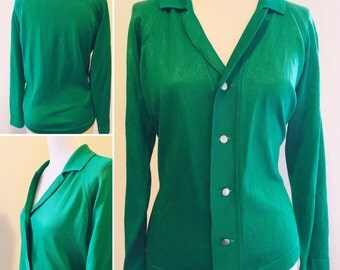Vibrant '60s Bombshell Sweater (L)