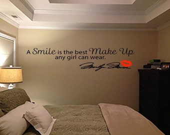 Marilyn Monroe wall quote