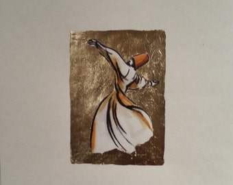 sufi, whirling dervish 3 - handmade