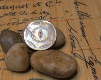 Vintage Abalone Button Pendant