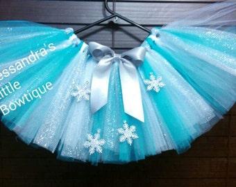 Queen elsa inspired tutu skirt frozen tutu frozen birthday outfit frozen first birthday outfit disney trip costume turquoise tutu winter