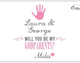 Will you be my Godparent? Wine Bottle Label