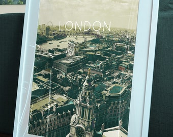London Skyline Poster 11x17 18x24 24x36