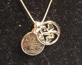 925 sterling silver necklace with girlfriend pendant
