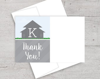 Moving Boxes, Housewarming Party, Thank You Note, Thank You Card, New Home, Printable Thank You, Matching Thank You, House Warming