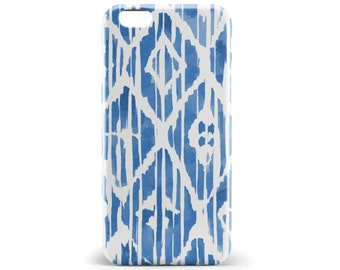 1342 //Blue Watercolor geometric Phone Case iPhone 5/5S, 6/6S, 6+/6S+ Samsung Galaxy S5, S6, S6 Edge Plus, S7