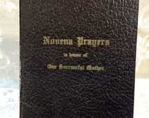 "Vintage ""Novena Prayers"" Prayer Book, Novena in Honor of our Sorrowful Mother"