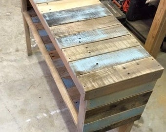 Reclaimed Wood Barn Style Console Table