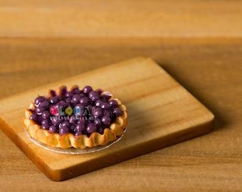 Dollhouse Miniatures Blueberry Tart