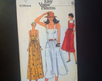 SALE WAS 6.50 Dress Pattern. Vogue Very Easy Patterns 7382. Size 14 Bust 92cm 1970s Misses' Dress