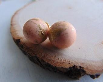 Peach Polymer Clay stud Earrings