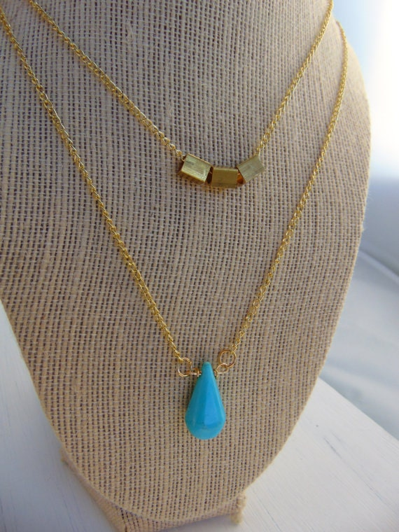 Gold-Turquoise Necklace