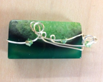 Green Rectangle Agate