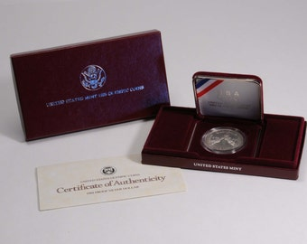 1988 Proof silver dollar United States Olympic Commemorative Coin, U.S. coin