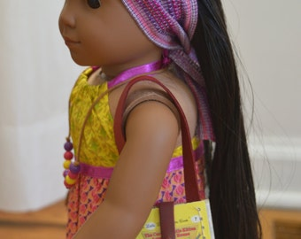 """The Curious Little Kitten Book Purse for 18"""" play dolls such as American Girl® Dolls"""