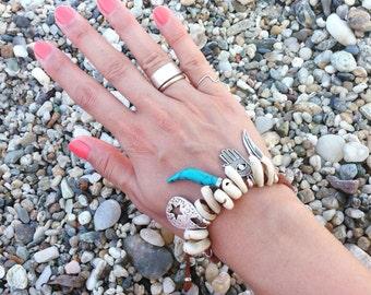 Cowrie Shell Bracelet,Beach Bracelet,Boho Style,Summer Bracelet