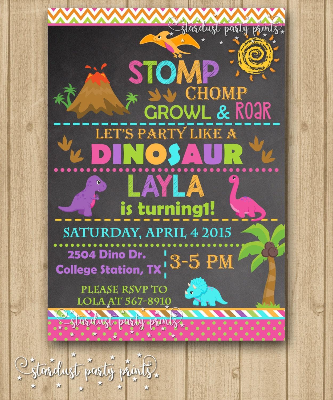 girl dinosaur invitation girl dinosaur birthday invitation
