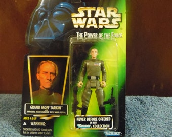 Star Wars Power of the Force Grand Moff Tarkin 1990's Kenner never before offered in a Kenner Collection
