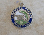 Harpers Ferry West Virginia State Enamel Sterling Silver Bracelet Charm