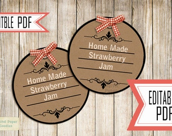 Rustic Custom Tags, Printable Tags, Editable tags, Personalized tags, Gift tags, gift labels, Food tags, Food lables