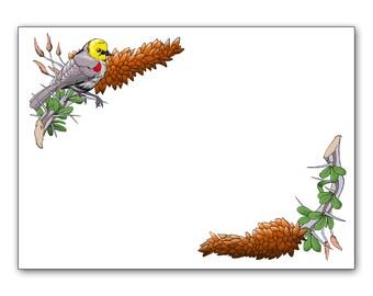 Verdin Bird Notecard