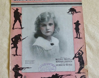 Bring Back My Daddy To Me, vintage sheet music, sheet music, 1917 sheet music, WWI Era sheet music, daughters, fathers, antique sheet music
