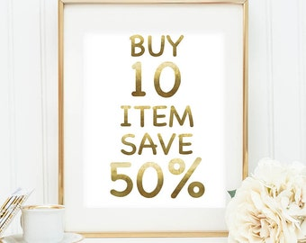 Buy 10 Item Save 50%, Coupon code: SAVE50
