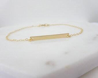 Bar bracelet, Skinny  bar bracelet, Bridesmaid Bracelet, Minimalist Bracelet Gold fill, Rose gold fill and Sterling silver