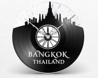 Vinyl Record Clock Two Layer // Bangkok Thailand Siam King