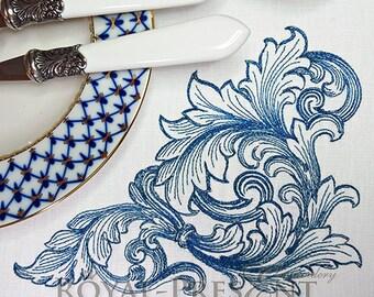 Machine Embroidery Design - Vintage baroque ornament (2 sizes)