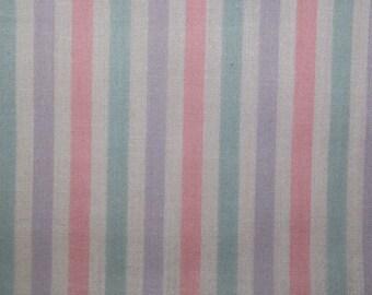 Candy Stripe Lilac/Pink- Polycotton Fabric Dress/Craft Fabric