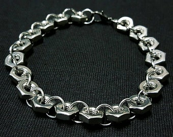 Hex Nut Bracelet Stainless Steel Mechanic Automotive Jewelry
