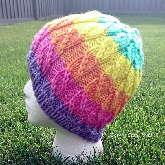 Knitting Pattern Unicorn Hat : Knitting PATTERN - Unicorn Slayer, Twisted Hat, Spiral Hat, Knitted Hat, Hat ...
