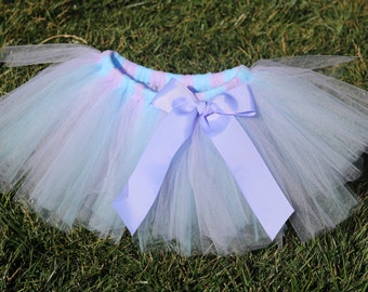 Purple and Blue Tutu 'Lavender Meadow' - newborn baby girl toddler child 6 12 24 months 1 2 3 4 5 6 7 8 years