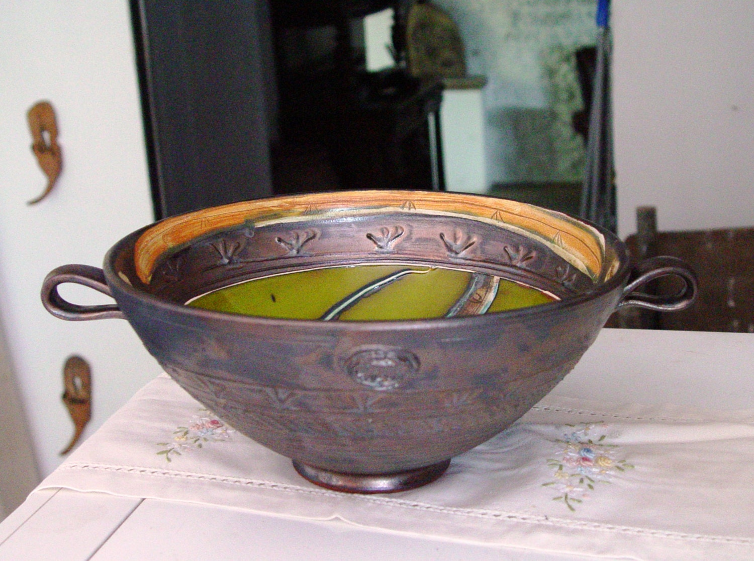 Pottery Wedding Gifts: Handmade Pottery Bowl Rustic Wedding Gift Pottery Fruit