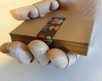 kraft paper cards business cards kraft cards diy business cards 50 biz cards seller supplies blank cards do it yourself card kraft cardstock