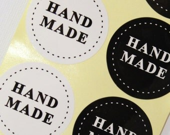 Lot of 20 hand-made - gift packaging - stickers stickers