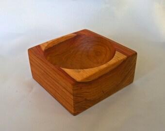 Small Square Padauk Bowl