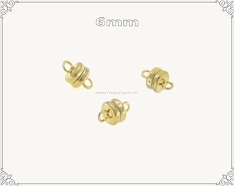 10 pc.+  6mm Extremely Strong Magnetic Clasp - Gold color