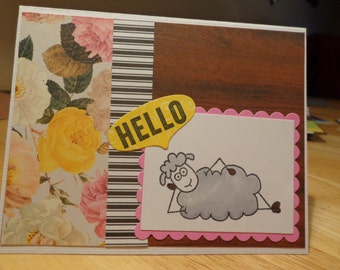 Silly sheep card