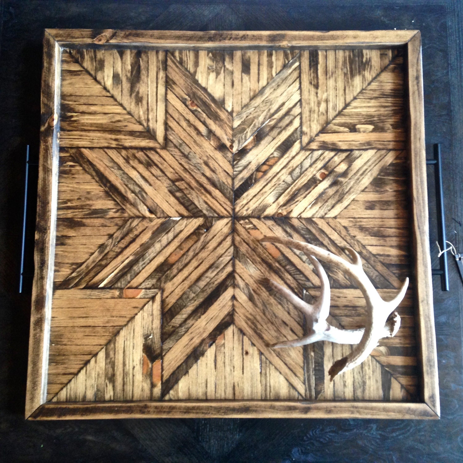 Rustic Wooden Tray Ottoman Tray Home Decor Rustic