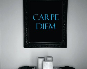 Carpe Diem Digital Download, Digital Art, Graphic, Quote, Wall Art, Print, Printable, PDF, JPG