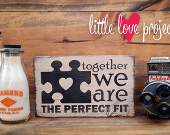 Together We are the PERFECT Fit Puzzle Block