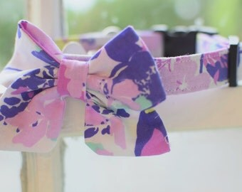 Floral Girly Bow Collar