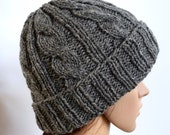 Gray Cable Knit Hats for Women, Knitted hats for women, Womens Winter Hat, Winter Accessories for Women, Christmas Gift Ideas for Sister