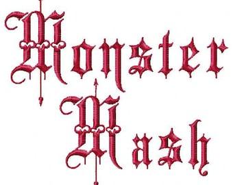 Monster Mash Machine Embroidery Design