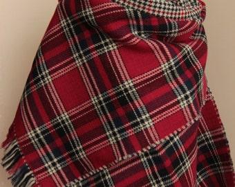 Blanket Scarf Blanket Scarves Plaid Tartan Scarf Soft Double design Scarf Zara Scarf Plaid Blanket Scarf Gift Valentine's Day Winter Scarf