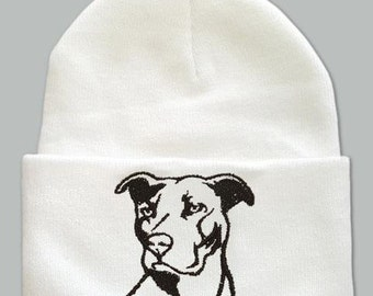 Pit Bull Embroidered Knit Hat